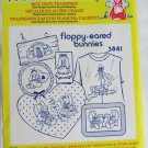 Aunt Martha hot iron transfers 3841 Floppy Eared Bunnies for embroidery sealed