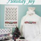Holiday Joy cross stitch patterns for sweaters towels from Just Cross Stitch