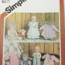 """Simplicity 5615 doll 15 to 16"""" patterns uncut vintage 1982 such as Tiny Tears doll"""
