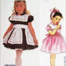 "McCall 2181 girls dress slip apron size 5 Breast 24"" UNCUT pattern"
