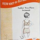 Ladies two piece swimsuit pattern sew knit n stretch sizes 14 16 18 like Kwik