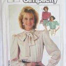 Simplicity 7093 misses blouse size 16 bust 38 pleated front UNCUT pattern