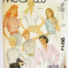 McCall 9013 misses tops blouses size 14 bust 36 UNCUT pattern shawl collar