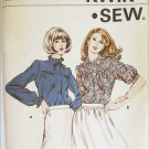 Kwik Sew 883 misses blouse sizes 12 14 16 UNUSED pattern shawl collar