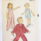 Advance 4440 child jacket blouse overalls vintage 1940s pattern size 6 breast 24