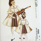 McCall 4466 child's dress petticoat size 6 breast 24 UNCUT pattern vintage 1958