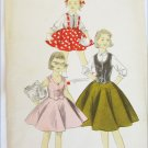 Advance 8101 girls blouse skirt weskit vintage 1950s pattern size 6 breast 24 UNCUT
