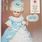 "Red Heart 13"" doll crochet patterns 4 outfits worsted weight yarn used"