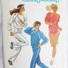 Simplicity 6620 misses running exercise jogging knit suit sizes 10 12 14 UNCUT pattern