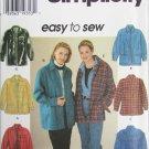 Simplicity 7315 misses shirt jacket sizes L XL UNCUT pattern