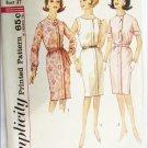Simplicity 4988 misses dress size 16 1/2 bust 37 vintage pattern