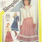 Simplicity 5491 Gunne Sax vintage 1982 pattern size 12 UNCUT dress