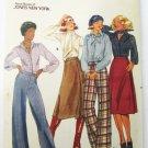 Butterick 5088 misses wrap skirt pants blouse scarf size 14 UNCT pattern