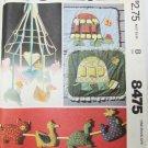 McCall 8475 nursery crib toys mobile organizer UNCUT pattern