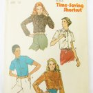 Butterick 6618 misses blouse patterns size 12 bust 34 UNCUT pattern vintage 1970s