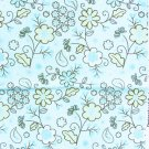 JoAnn fabric turquoise background white flowers 35 inches x 44