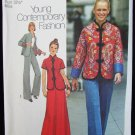 Simplicity 7224 misses Chinese style jacket pants skirt size 10 UNCUT pattern