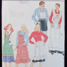 Butterick 4066 aprons with variations man women UNCUT pattern