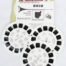 View Master 3 reels Ohio A 595 Vacationland Series state packet 1954