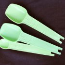 Tupperware replacement measuring spoons mint green 1/4 1/2 1&1 2/ tsp sizes