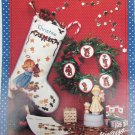 Abby Angel cross stitch pattern booklet Christmas stocking pillow sayings