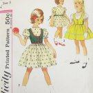 Simplicity 4787 girls dress & weskit size 5 breast 23 1/2 pattern vintage