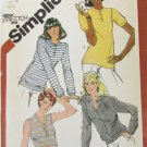 Simplicity 5147 misses stretch knit tops cardigan size 16 B 38 UNCUT pattern 1981 issue