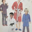McCall 2054 boys pajamas robe size Large 10 to 12 UNCUT pattern