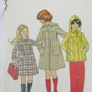 Simplicity 7948 girls coat or jacket detachable hood size 7 breast 26 UNCUT