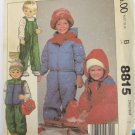McCall 8815 childs jacket vest overalls size 8 breast 27 UNCUT pattern