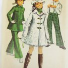 Simplicity 8470 girls mini coat bell bottom pants hat size 8 breast 27