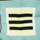 Finished needlepont pillow top wall hanging nautical symbol ? 16 1/2 x 17 inches