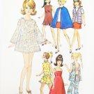 "Simplicity 8466 fashion doll 11 1/2"" wardrobe outfits Barbie Maddie Mod UNCUT"