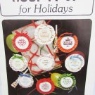 Hoop It Up for Holidays 16 cross stitch lid or small hoop designs Easter Christmas+