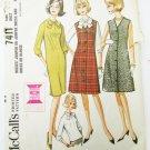 McCall 7411 misses jumper dress size 10 Bust 31 vintage pattern