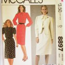McCall 8897 misses dress and jacket pattern size 16 bust 38