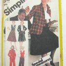 Simplicity 5245 misses pants skirt vest jacket size 20 1/2 UNCUT from 1981