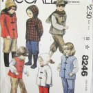 McCall 8246 child's winter jacket vest pants size 3 pattern