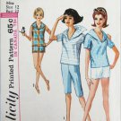 Simplicity 5368 vintage misses sailor collar shirt shorts size 12 bust 32 pattern