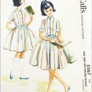 McCall 5267 girls flared dress with petticoatsize 8 breast 26 vintage 1959 UNCUT pattern