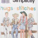 Simplicity 8396 girls cowboy western pattern size 12 14
