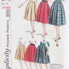 Simplicity pleated full skirt size waist 28 hip 38 vintage pattern