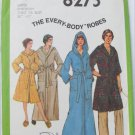 Simplicity 8275 misses mans robe hood long short size 38 to 40