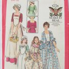 Butterick 4260 colonial lady dress apron pattern size 12 bust 34 vintage pattern Dolly Madison
