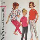 Simplicity 5047 girls over blouse pants size 12 UNCUT vintage 1960s pattern