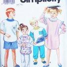 Simplicity 7539 child long short pajamas and nightshirt sizes S M L UNCUT pattern