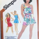 Simplicity 5124 misses rompers flared shorts bodice sizes 10 12 14 UNCUT pattern