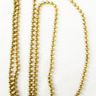 "Brass bead linked long necklace vintage 34"" wear as double loop"
