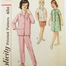 Simplicity 4237 girls pajama & duster size 8 with alphabet transfer pattern