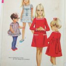Simplicity 7968 girls dress size 6 breast 25 vintage 1968
